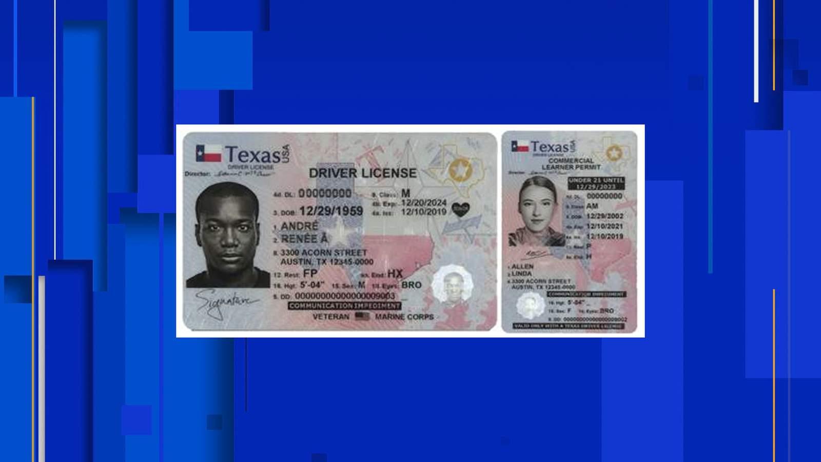 Texas lanza nueva licencia de conducir, diseño de tarjeta de identificación 10