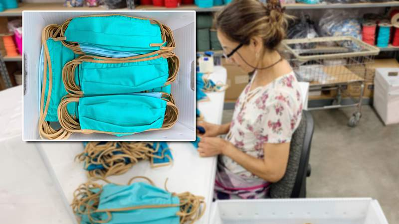 Workers with Venus Fashion have shifted to making medical face masks to donate to Jacksonville hospitals.
