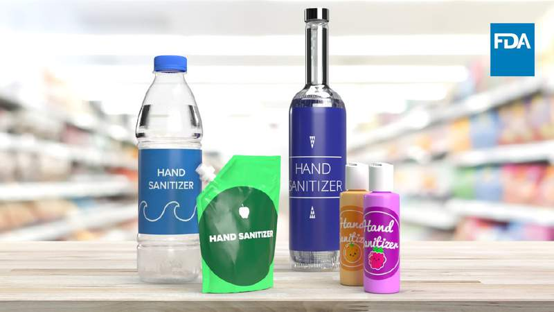 The FDA is warning consumers about alcohol-based hand sanitizers that are being packaged in containers that may appear as food or drinks and may put consumers at risk of serious injury or death if ingested.