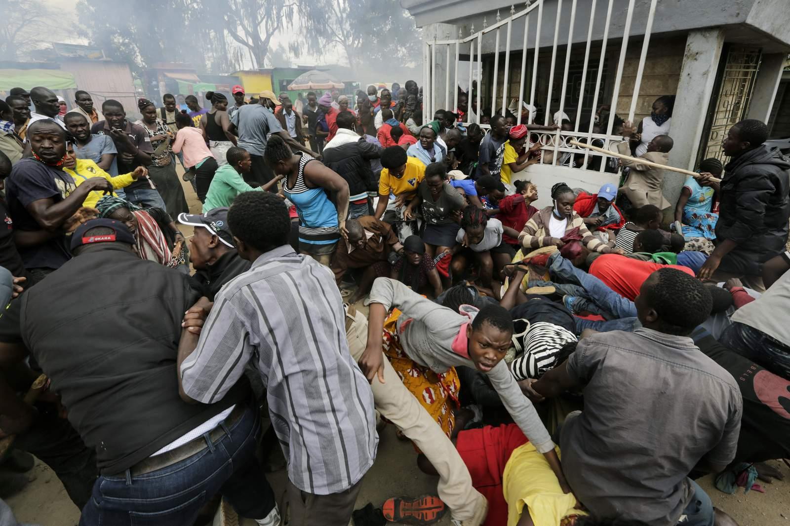 Estampida en Kenia mientras los residentes de los barrios marginales aumentan en busca de ayuda alimentaria 45