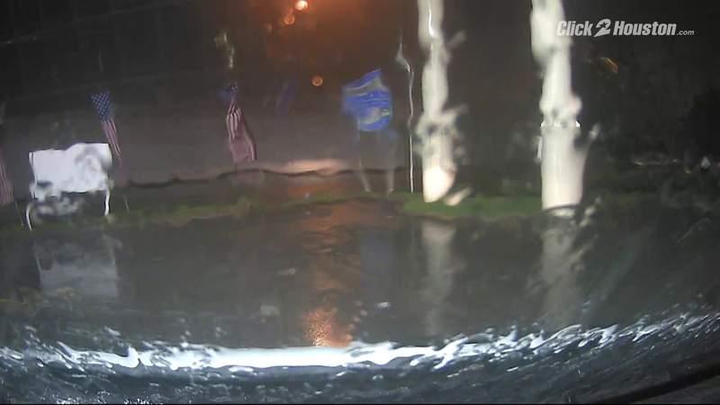 Conditions in Pasadena during Hurricane Nicholas