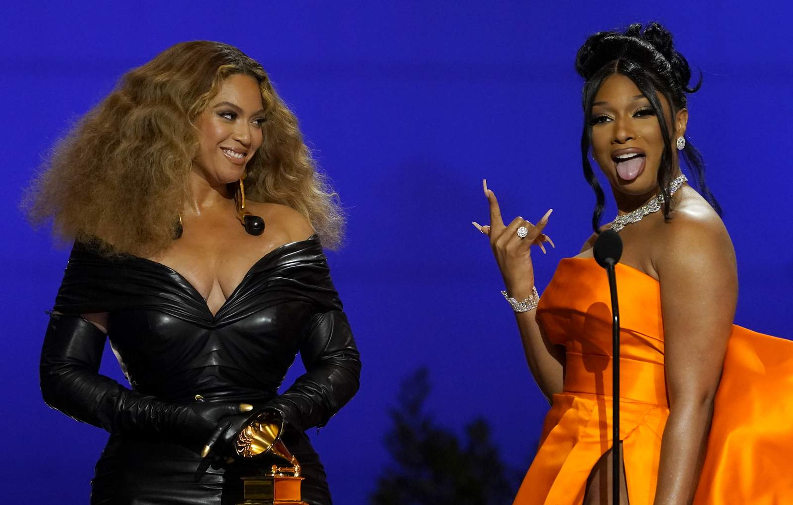 Beyoncé, Megan thee Stallion show out for Houston at the Grammys