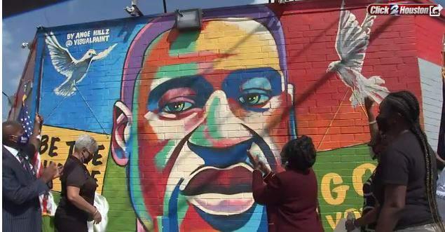 George Floyd mural unveiling in Houston