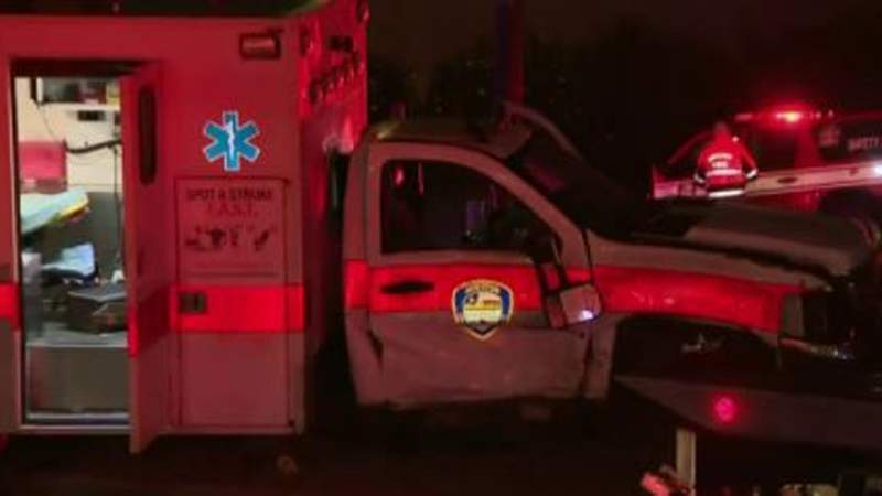 HFD ambulance involved in crash