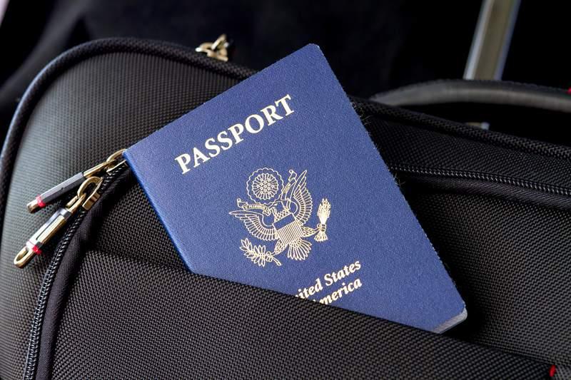 Stock image of a U.S. Passport