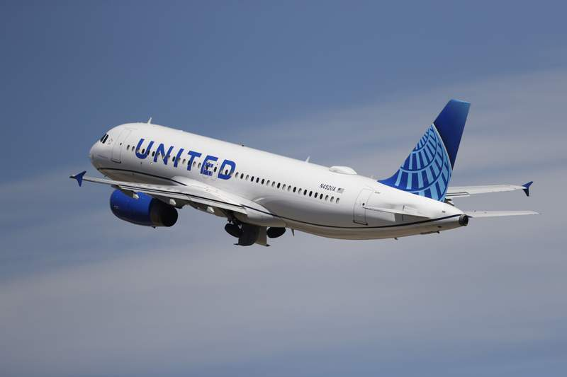 A United Airlines jetliner lifts off from a runway at Denver International Airport, Wednesday, June 10, 2020, in Denver. On Monday, April 19, 2021, United Airlines said it is still losing money, and it's waiting for a turnaround in lucrative business and international travel to get it back to profitability. (AP Photo/David Zalubowski)