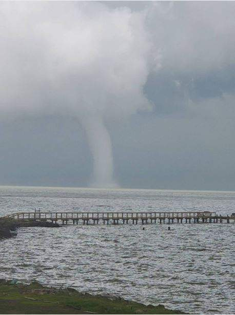 A year ago this waterspout impressed a lot of click2pin users! Gary Renola took this shot. Fortunately the waterspout never made landfall.