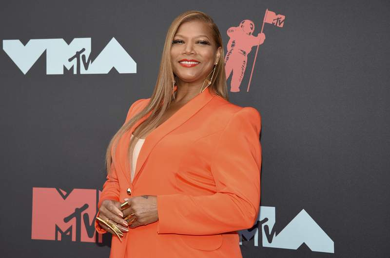 """FILE - In this Aug. 26, 2019 file photo, Queen Latifah arrives at the MTV Video Music Awards in Newark, N.J. Queen Latifah, Rebecca Breeds and Thomas Middleditch are set to star in three new CBS shows for the 2020-21 season as the network adds a reimagined Equalizer, a show based on The Silence of the Lambs"""" and a comedy about organ donation. (Photo by Evan Agostini/Invision/AP, File)"""