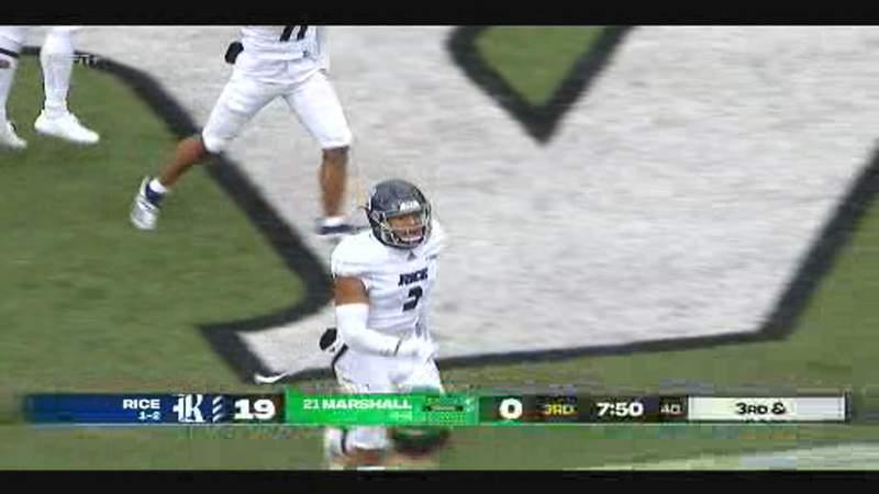 Rice Owls stun Marshall, 20-0
