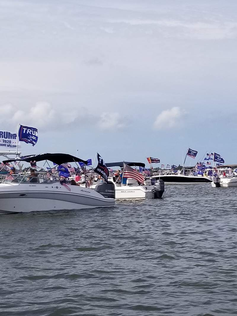 Trump 2020 flotilla in Naples, Fla.