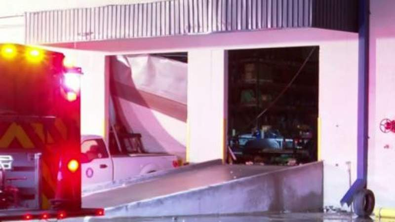Roof collapses, causes significant damage to building on East Freeway
