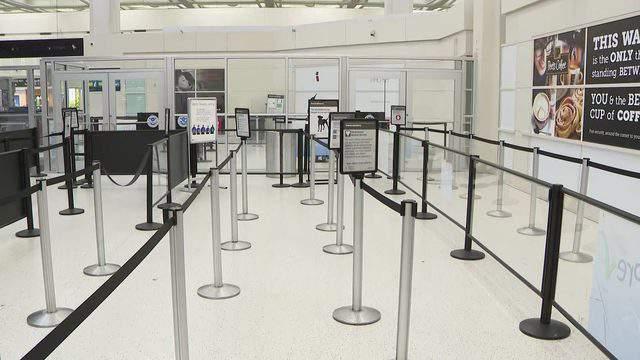 An empty Terminal B at Bush Intercontinental Airport on Jan. 14, 2019.