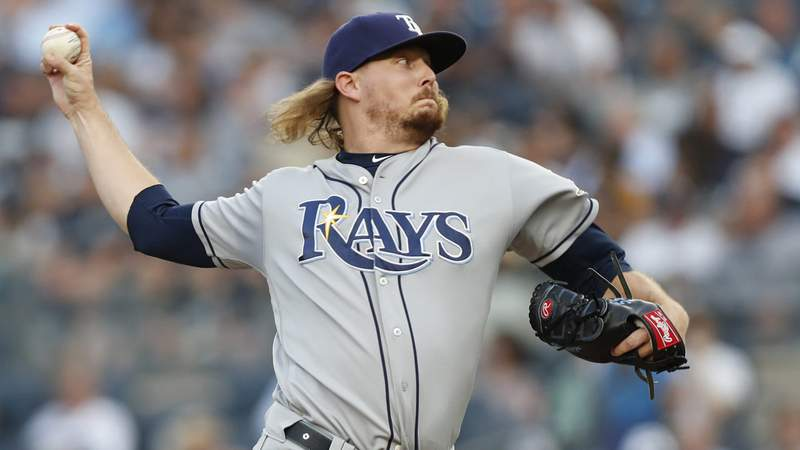 The Marlins acquired pitcher Ryne Stanek from the Rays
