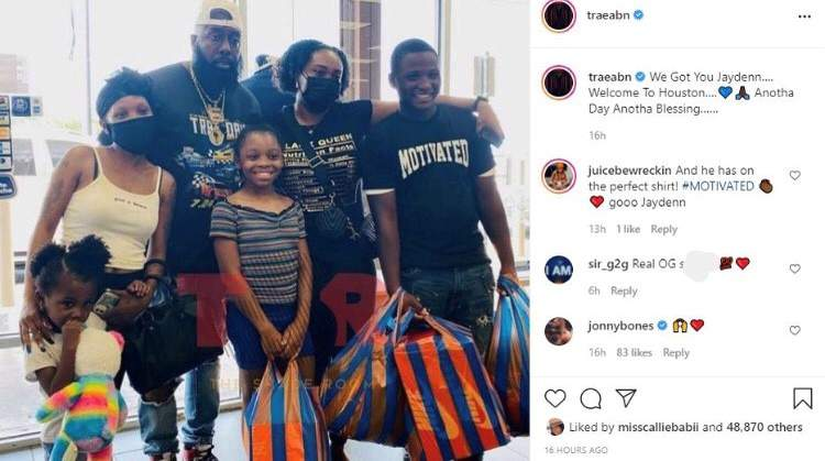 Rapper Trae Tha Truth helps teen selling bottles of water to buy school clothes. This image has been altered by KPRC 2 to hide profanity.
