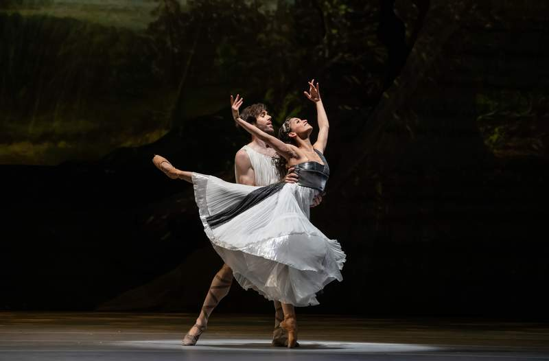 "Houston Ballet Principals Karina Gonzalez and Connor Walsh in Stanton Welch's ""Sylvia"""