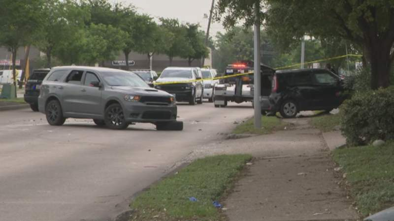 A woman is dead after a shooting at a gas station on Beechnut.